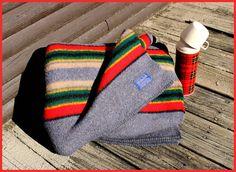 Pendleton Yakima Gray Heather Wool Camp Blanket - Throw, Vintage - 1990's by AjsVintageTreasures on Etsy
