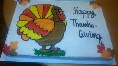 Thanksgiving Turkey icing transfer cake