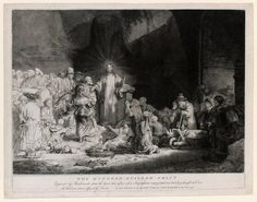 #1 Rembrandt, Christ Healing the Sick ('The Hundred Guilder Print'), ca. 1647. In this etching Rembrandt has illustrated a combination of events from chapter nineteen of the Gospel of Matthew. The etching received its nickname 'The Hundred Guilder Print' in the eighteenth century, with the story that Rembrandt had paid the extravagant amount of one hundred guilders at an auction to buy back a copy of his own etching.