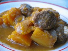 If you love butternut squash like I do , then you will love this Beef Butternut Stew. This stew is oh, so tasty and perfect for anyone on a leaky gut diet. Butternut Squash Stew, Clean Eating, Healthy Eating, Dairy Free Diet, Paleo Life, Yummy Eats, Food Allergies, Soup And Salad, Gluten Free Recipes