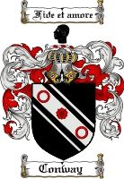 Conway Family Crest / Ireland Coat of Arms  View our Conway Coat of Arms Products  O'brien Coat of Arms Also Available at: www.4crests.com