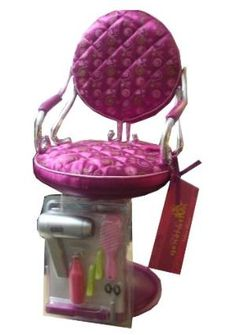 Buy Our Generation Purple Salon Chair fits most 18' Dolls and American Girl Dolls by B-Toy&Game