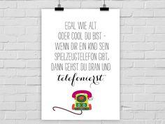 Typo Poster für das Kinderzimmer / typo artprint for nursery, wall decoration von PrintsEisenherz bei DaWanda