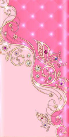 Flower Phone Wallpaper, Butterfly Wallpaper, Wallpaper Texture, Cute Bedroom Ideas, Iphone Phone, Pink Love, Phone Wallpapers, Embellishments, Butterflies