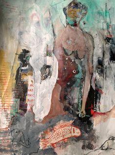 * the art of katie kendrick. Funky Art, Retro Art, Art Journal Inspiration, Creative Inspiration, Color Inspiration, Portrait Art, Portraits, Impressionist Paintings, Cool Art