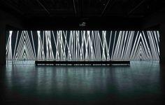 carsten nicolai unidisplay, 2012 museum für moderne kunst, frankfurt am main Light Art Installation, Interactive Installation, Art Installations, Bühnen Design, Instalation Art, Licht Box, Light And Space, Exhibition, Stage Design