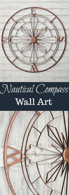 Nautical Compass Metal Wall Art | Rustic Wall Decor | Nautical Wall Decor | Metal Wall Compass #WallArt #art #walldecor #rusticdecor #metal #metalwallart #nautical #nauticaldecor #rusticdecor #etsy #etsyfinds #affiliatelink