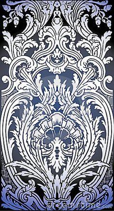 Illustration of Baroque pattern by Araraadt, via Dreamstime