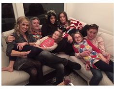 Rodney Crowell with daughters Hannah, Carrie, Chelsea and Caitlin, plus two granddaughters. Dec. 25, 2014