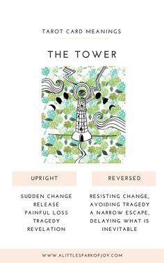 The Tower Tarot Card Meaning: Love, Health, Money & The Tower Tarot Meaning, The Tower Tarot Card, Major Arcana Cards, Tarot Major Arcana, Kitchen Witch, Tarot Astrology, Rider Waite Tarot, Tarot Card Meanings, Tarot Readers