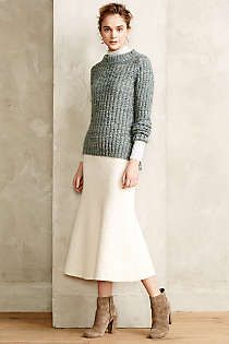 Anthropologie - Snowfield Midi Skirt