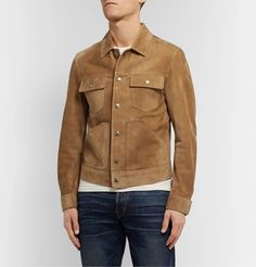 Take advantage of the end of the fall-winter 2019 season and enjoy discounted prices on designer fashions that are part of Mr Porter's holiday sale. Tom Ford T Shirt, Tom Ford Jeans, Satin Bomber Jacket, Suede Jacket, Tom Ford Boots, Fashion 2020, Mens Fashion, Leather Men, Leather Jackets