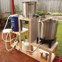 Home Brewery, Home Brewing Beer, Moonshine Still Plans, Brew Stand, Beer Cellar, All Grain Brewing, Home Brewing Equipment, Beer Tasting, Beer Recipes