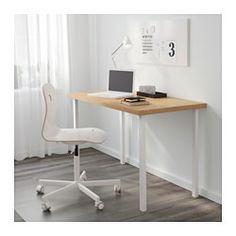 IKEA - LINNMON / GODVIN, Tavolo, effetto betulla/bianco, , Fori predisposti per…