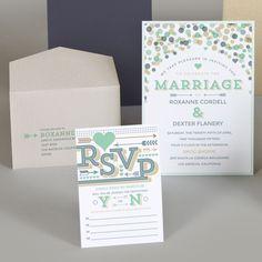 Confetti Wedding Invitation Whimsical Wedding by SuitePaper
