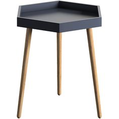 Blaine Collection Black Hexagon Tray End Table (€42) ❤ liked on Polyvore featuring home, furniture, tables, accent tables, onyx furniture, ebony furniture, hexagon side table, hexagon table and black accent table