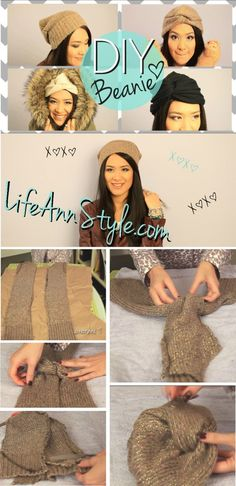 How To DIY Project: Cute Boho Twisted Beanie Hat Tutorial {No Sew} | lifestyle