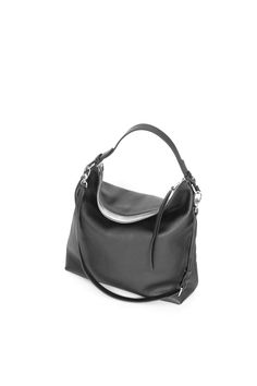 """Ava Hobo Bag"" Black Pebbled Leather Tote by morelebags"