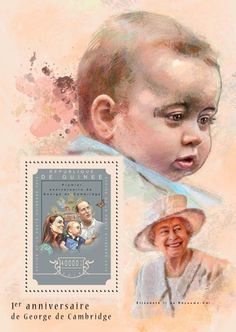 Post stamp Guinea GU 14602 b anniversary of Prince George Prince George Alexander Louis, English Royalty, 1st Anniversary, Stamps, Cambridge, Birthday, Royals, Queens, Twitter