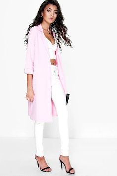 #boohoo Longline Waffle Duster Coat - blush DZZ81748 #Wrap up in the latest coats and jackets and get out-there with your outerwearBreathe life into your new season layering with the latest coats and jackets from boohoo. Supersize your silhouette in a puffa jacket, stick to sporty styling with a bomber, or protect yourself from the elements in a plastic raincoat. For a more luxe layering piece, faux fur coats come in fondant shades and longline duster coats give your look an androgynous…