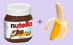 Nutella + frozen banana = 2 ingredients ice cream Love it! 2 Ingredient Ice Cream, 5 Ingredient Desserts, Sorbet Ice Cream, Frozen Yoghurt, Food Club, Ice Ice Baby, Frappe, Cupcake Cookies, Sweet Recipes