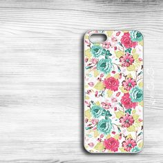 Teal & Pink Floral #iPhone #Case  http://lovelycaseco.etsy.com $18