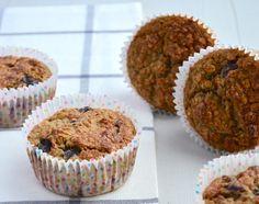 Ben je op zoek naar gezonde tussendoortjes dan zijn deze gezonde muffins met havermout echt iets voor jou.