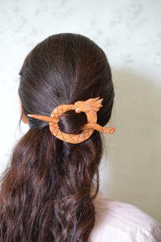 The viking dragon shawl pin barette.