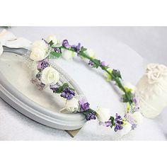 Women's/Flower Girl's Silk Headpiece - Wedding/Special Occasion Wreaths – USD $ 14.99