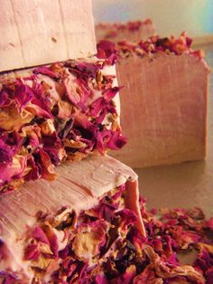 Items similar to 1 Loaf Victorian Rose soap sample with 7 vegetable oils. Makes 5 bars at each. Vegan Friendly on Etsy Chocolate Roses, Rose Soap, Handmade Soaps, Cocoa Butter, Bar Soap, Vegan Friendly, Soap Making, Natural Soaps, Gift Wrapping