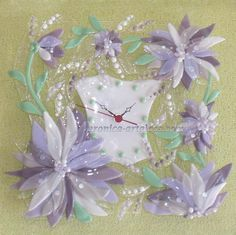Glass handmade fused clocks, bowls, jewelry and decoration in ...