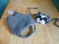 Halloween Costume  Crocheted Guinea Pig Raccoon by Fancihorse