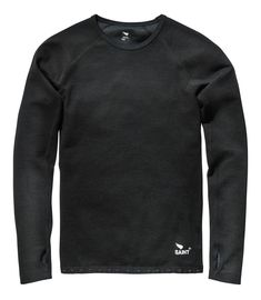 The Saint Long Sleeve Shirt perfectly blends the warmth of fine spun Australian Merino wool with the tough impact abrasion resistance and durability of Black...