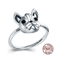 Frenchie World® 925 Sterling Silver Ring