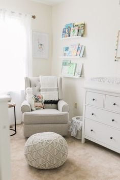 27 Gender Neutral Nursery Ideas - Lattes, Lilacs, & Lullabies Baby Bedroom, Baby Boy Rooms, Baby Boy Nurseries, Modern Nurseries, Girl Rooms, Nursery Book, Girl Nursery, Nursery Ideas, Book Themed Nursery