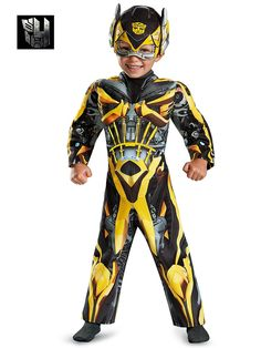 Toddler Transformers Bumblebee Light-Up Motion Activated Costume - TV and Movie Party Costumes for Infants & Toddlers