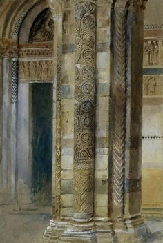 Interior of Lucca Cathedral, 1879 ~ John Ruskin