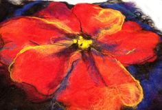 Allie wins a Gift Certificate in our January Drawing — $25 to the Living Felt store! Allie McCambly of Aliso Viejo, California shares her very first felted piece, and it is absolutely stunni…