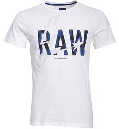 G-Star T-Shirt Lamar Round Neck / BLANC | G-Star | MARQUES | E-shop Citadium