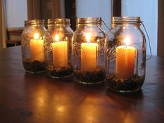 mason jar candles by kellyarnett, via Flickr