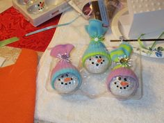Snowman ornaments no instructions just picture
