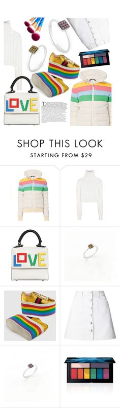 """Anastazio-rainbow winter style"" by anastazio-kotsopoulos ❤ liked on Polyvore featuring Perfect Moment, Calvin Klein Collection, Les Petits Joueurs, Gucci, Miss Selfridge, Smashbox and Balmain"