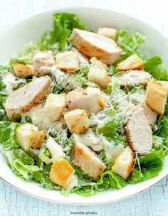 Sałatka Cezar z kurczakiem Cezar Salad, Salad Bar, Cobb Salad, Appetisers, Italian Recipes, Appetizer Recipes, Potato Salad, Healthy Snacks, Food And Drink