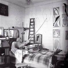 P'tit cadeau en hommage à la vie: même âgé, même fatigué, même alité, Matisse peint...