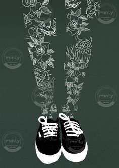 Inked legs via mintystock.com