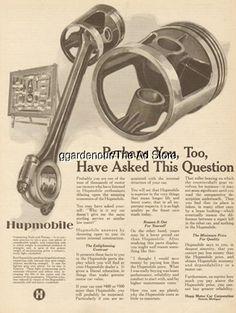 1924 Hupp Motor Car-Hupmobile Automotive Parts Display-Motor Rods & Pistons Ad