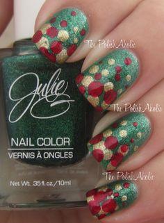 JulieG Under Mistletoe    oh xmas nails ..oh xmas nails...