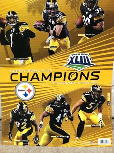 Pittsburgh Steelers Super Bowl Championship Poster