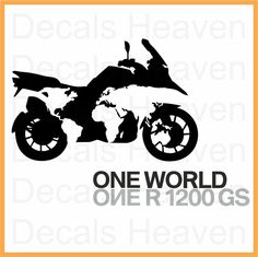 BMW ONE WORLD ONE R1200GS LOGO STICKER CAR BUMPER WINDOW MOTORCYCLE DECAL
