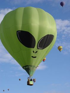 Green alien Hot Air Balloons